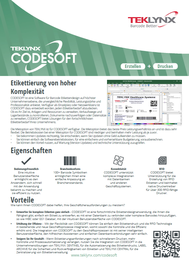 Datenblatt Codesoft 2019